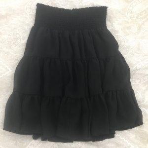 Zero Falda a cuadros negro