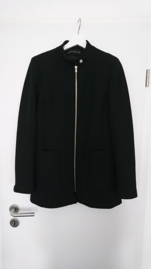 Zara Manteau court noir-doré