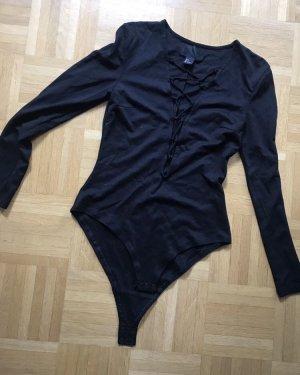 Schwarzer lace up Body