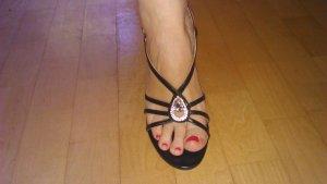 schwarzer Lack High Heel