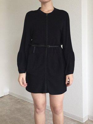 Schwarzer Langärmeliges Kleid von COS mit Reißverschluss