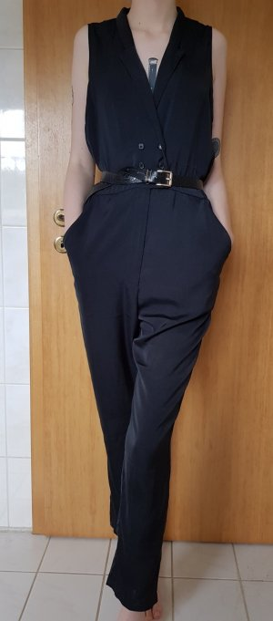schwarzer langer jumpsuit
