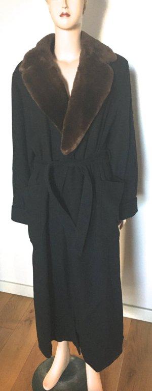Escada Manteau d'hiver noir cachemire