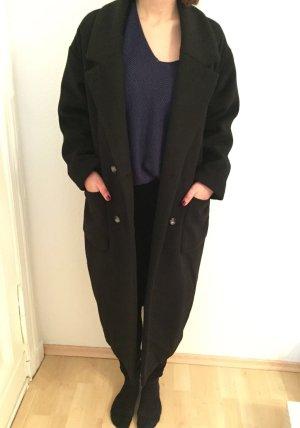Schwarzer langer oversized Mantel