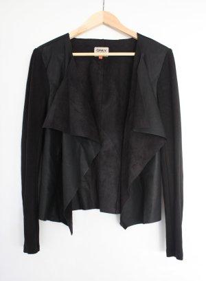 schwarzer Leder Blazer von Only Kunstleder neu