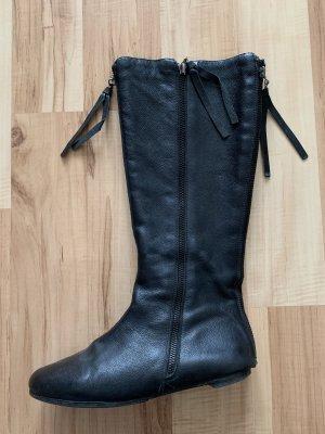 Schwarzer Leder Stiefel