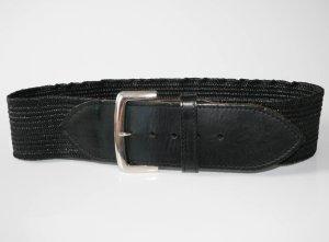 Schwarzer Leder Taillengürtel