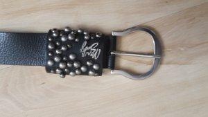 schwarzer Ledergürtel von Miss Sixty 95cm