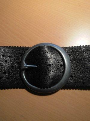 schwarzer Ledergürtel von Pieces 75cm
