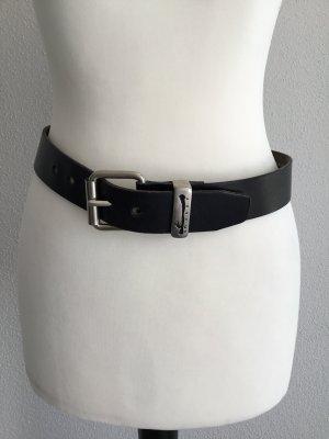Schwarzer Ledergürtel von Sisley