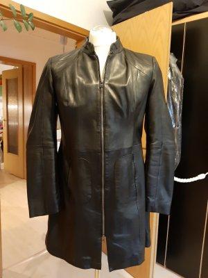 Patrizia Dini Manteau en cuir noir cuir
