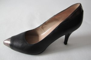 Unisa High Heels black-silver-colored leather