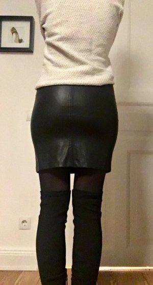Only Jupe en cuir synthétique noir