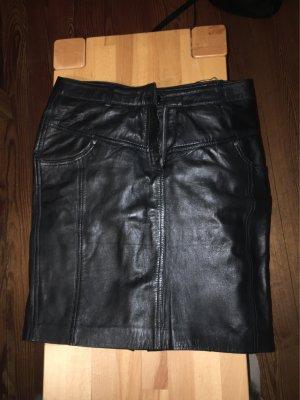 Mandarin Leren rok zwart