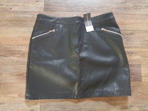 Schwarzer Lederrock - Gr. 42 - Minirock - Neu mit Etikett