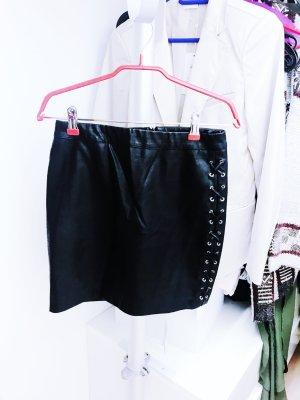 Schwarzer Lederrock von New Look