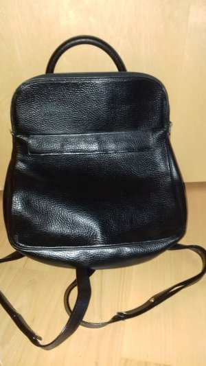 School Backpack black leather