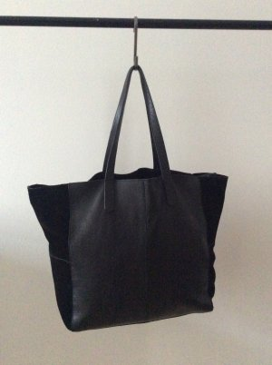 Zara Shopper black leather