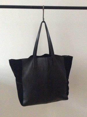 Schwarzer Ledershopper von Zara