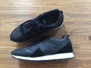 Zara Basket à lacet noir cuir