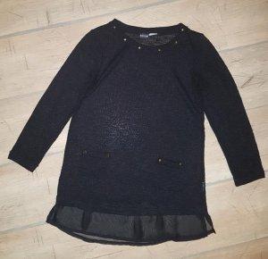 Schwarzer leichter Sommer Pullover Gr. S mit Goldnieten - Top