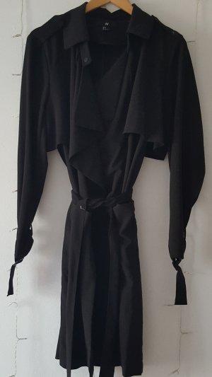 Schwarzer leichter Trenchcoat
