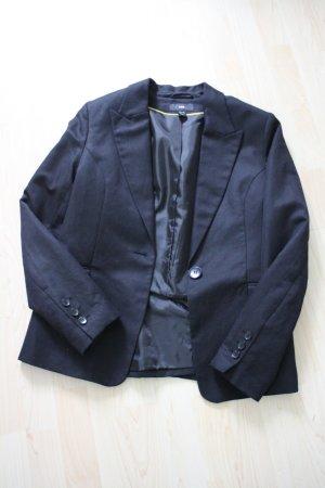 schwarzer Leinenblazer von H&M in Gr. 42