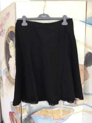 Prada Falda de lino negro Lino