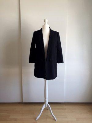 Schwarzer Long-Blazer mit 3/4 Ärmeln