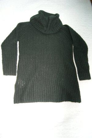 schwarzer Longpullover
