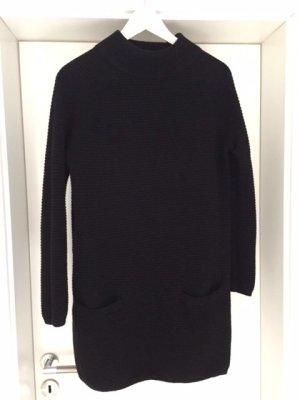 Hallhuber Long Sweater black wool