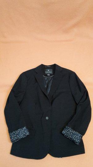 Schwarzer MAISON SCOTCH Blazer mit Sternchen-Innenfutter