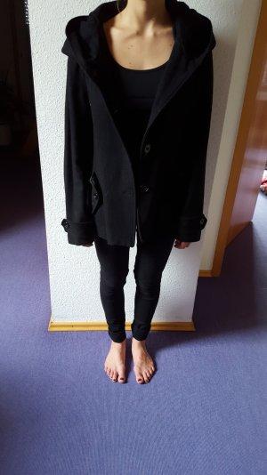 schwarzer Mantel aus Wollgemisch, Pimkie