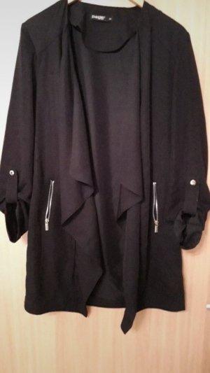 schwarzer Mantel / Cardigan
