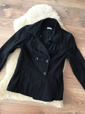Schwarzer Mantel Damen