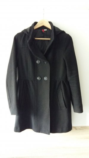Schwarzer Mantel H&M