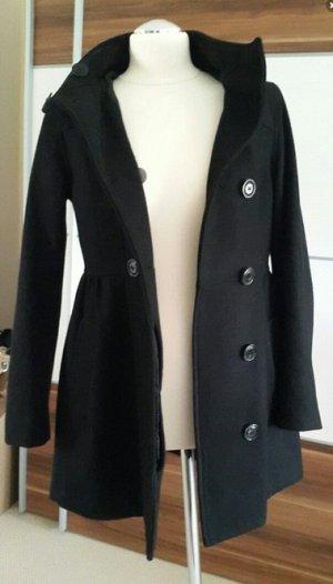 H&M Manteau à capuche noir