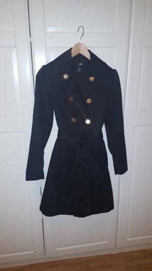 schwarzer Mantel von h&m Größe 34