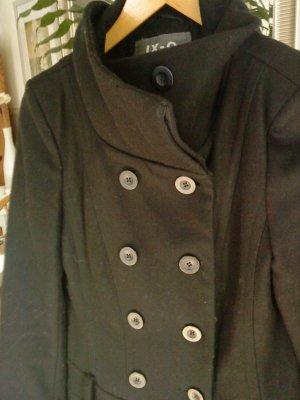 schwarzer Mantel Wolle Größe M