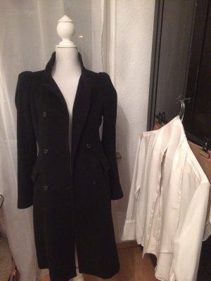 Schwarzer Mantel Zara 100% Wolle M 38