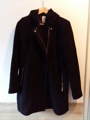 Schwarzer Mantel Zara