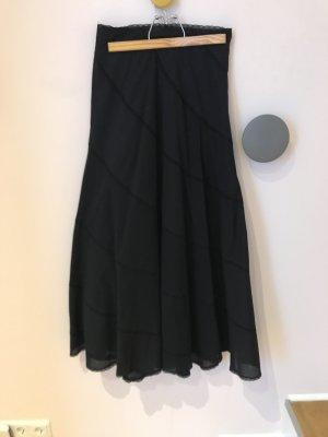 Isabel de Pedro Maxi Skirt black cotton