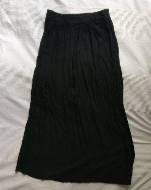 Schwarzer Maxi Rock mit Taschen