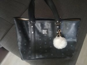 MCM Shopper black-light grey leather