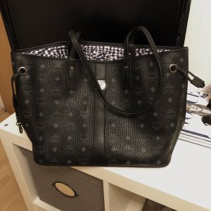 Schwarzer MCM Shopper Medium mit Clutch Original