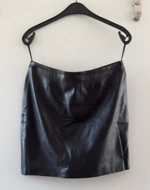 Selected Femme Leather Skirt black leather