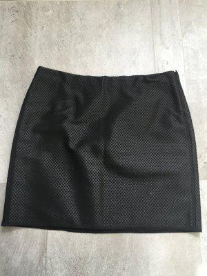 Schwarzer Minirock von Opus mit Prägung Größe 40