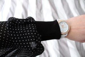 schwarzer Morgan Pullover, sehr weich, Größe S, transparente Ärmel, Schleife