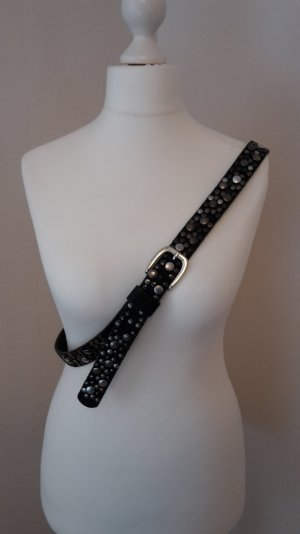 s.Oliver Studded Belt black-silver-colored