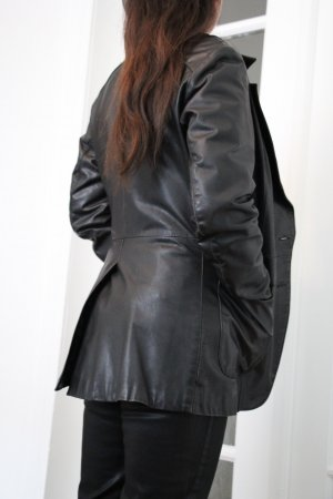 Leather Blazer black leather